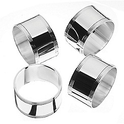 Arthur Price - Set of 4 swirl napkin rings