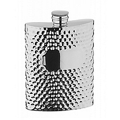 Arthur Price - Hammered style 6 oz pewter Hip Flask