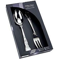 Arthur Price - Kings 18/10 stainless steel boxed Large serving spoon and fork