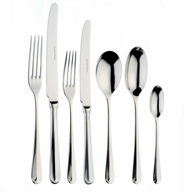 Arthur Price Rattail 7 piece stainless steel place setting