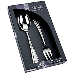 Arthur Price - Royal Pearl 18/10 stainless steel boxed Large serving spoon and fork