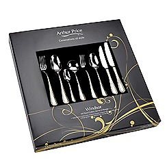 Arthur Price - Windsor 18/10  Stainless Steel 44 piece 6 person boxed cutlery set