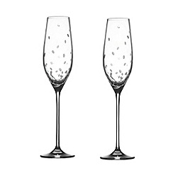 Royal Doulton - Pair of 'Celebration' crystal champagne flutes