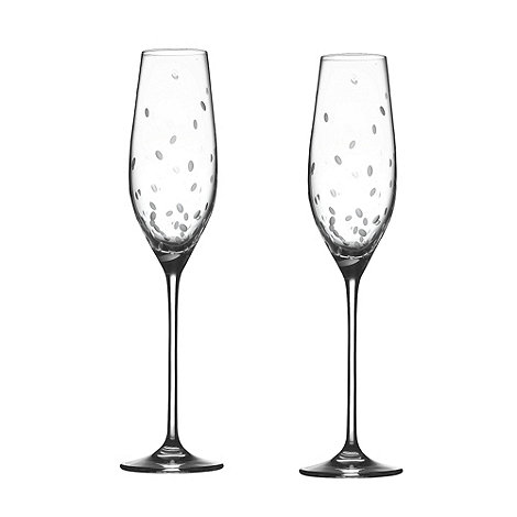 Royal Doulton - Pair of +Celebration+ crystal champagne flutes