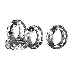 Royal Doulton - Set of four 24% lead crystal 'Radiance' napkin rings