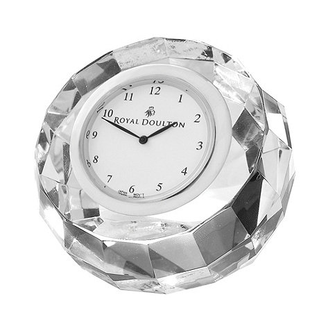Royal Doulton - Silver 24% lead crystal +Radiance+ mantel clock