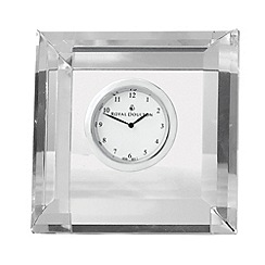 Royal Doulton - Silver 24% lead crystal 'Radiance' square mantel clock