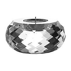 Royal Doulton - Silver 24% lead crystal 'Radiance' large tealight holder