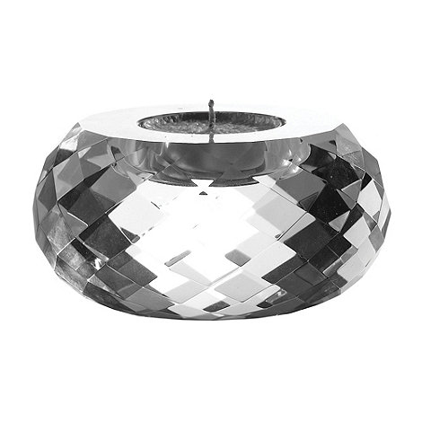 Royal Doulton - Silver 24% lead crystal +Radiance+ large tealight holder