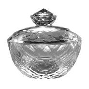 Royal Doulton Silver 24% lead crystal 'Radiance' trinket box