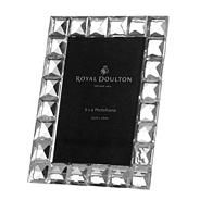 Royal Doulton Silver crystal 'Radiance' diamond photo frame