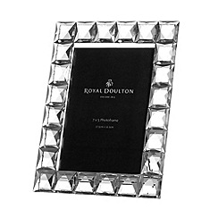 Royal Doulton - Silver crystal 'Radiance' diamond photo frame