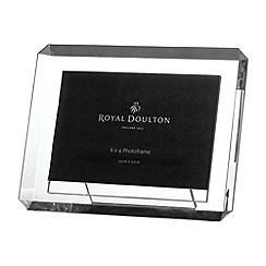 Royal Doulton - Silver crystal 'Radiance' bevel photo frame