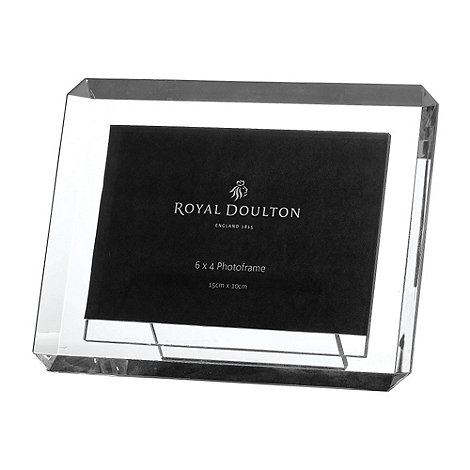 Royal Doulton - Silver crystal +Radiance+ bevel photo frame