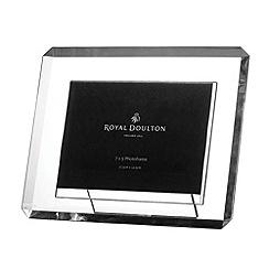 Royal Doulton - Silver crystal 'Radiance' bevel photo frame