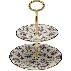 Royal Albert - Fine bone china purple floral cake stand