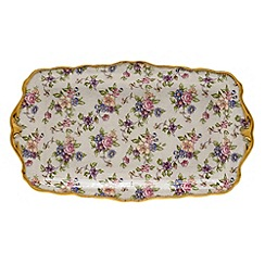 Royal Albert - Purple '100 Years of ' sandwich tray