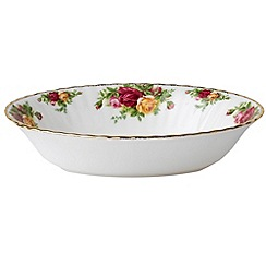 Royal Albert - Red 'Old Country Rose' open vegetable dish
