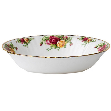 Royal Albert - Red +Old Country Rose+ open vegetable dish