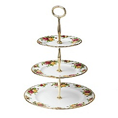 Royal Albert - Red 'Old Country Rose' three tier cake stand