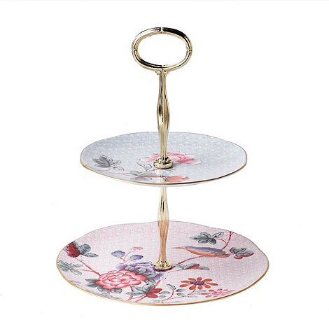 Wedgwood - Two tier +Cuckoo+ cake stand