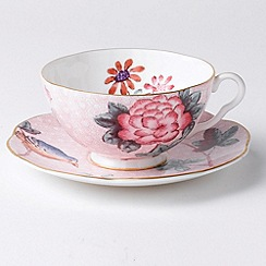 Wedgwood - Pink 'Cuckoo' cup and saucer