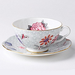Wedgwood - Green 'Cuckoo' cup and saucer