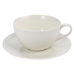 Gordon Ramsay By Royal Doulton - White 'Maze' tea cup & saucer
