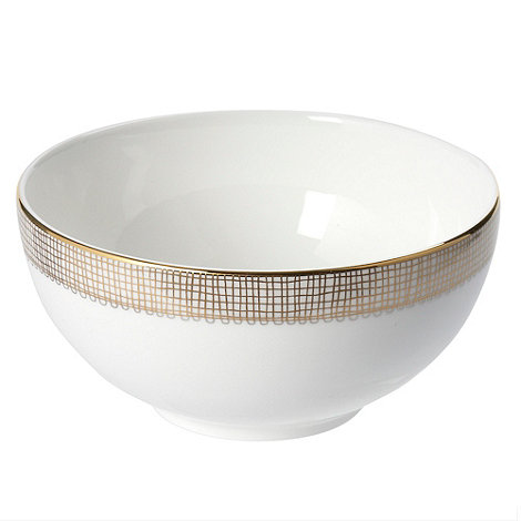 Vera Wang Wedgwood - White +Gilded Weave+ cereal bowl