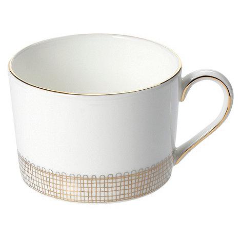 Vera Wang Wedgwood - White +Gilded Weave+ tea cup
