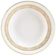 White 'Gilded Weave' bread & butter plate