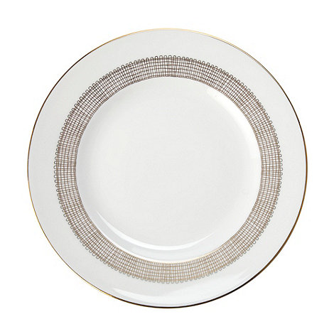 Vera Wang Wedgwood - White +Gilded Weave+ dessert plate