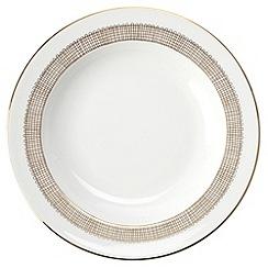 Vera Wang Wedgwood - White 'Gilded Weave' rimmed soup platter