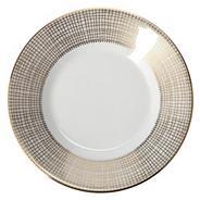 White 'Gilded Weave' tea saucer