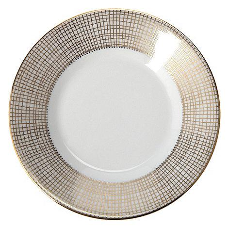 Vera Wang Wedgwood - White +Gilded Weave+ tea saucer