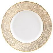 White 'Gilded Weave' salad plate