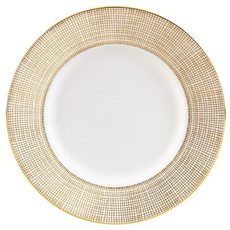 Vera Wang Wedgwood - White +Gilded Weave+ salad plate