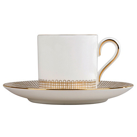 Vera Wang Wedgwood - White +Gilded Weave+ coffee saucer