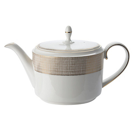 Vera Wang Wedgwood - White +Gilded Weave+ tea pot