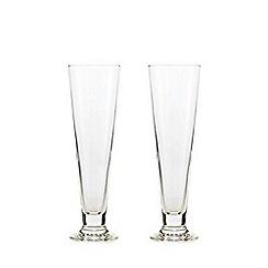 J by Jasper Conran - Set of two pilsner glasses