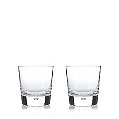 J by Jasper Conran - Designer set of two glass bubble bottom tumblers