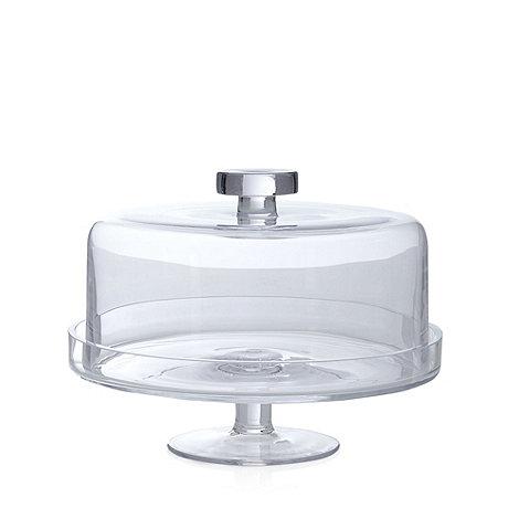 j by jasper conran glass cake stand with lid debenhams. Black Bedroom Furniture Sets. Home Design Ideas