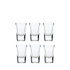 Home Collection Basics - Set of six clear shot glasses