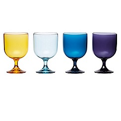 Barcraft - 'Coolmovers Sail Away' set of 4 plastic stacking glasses