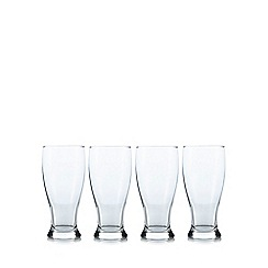 Rayware - Set of four clear beer glasses