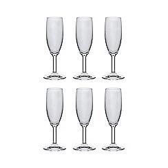 Home Collection Basics - Set of six flute glasses