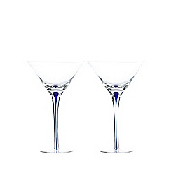Home Collection - Set of two teardrop stem martini glasses