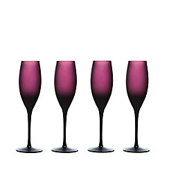 Home Collection - Set of four purple graded flute glasses