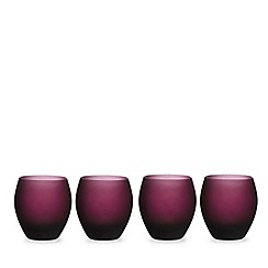 Home Collection - Set of four purple ombre effect graded tumblers