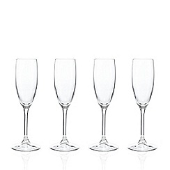 Ben de Lisi Home - Set of four flute glasses